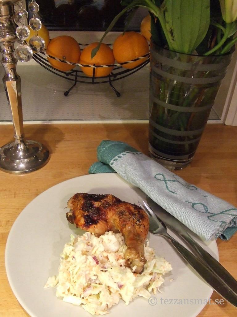 Tezzans kyckling med rotfruktsslaw